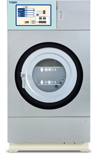 Washer/dryer with gas-powered